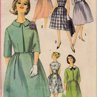 SALE 1960s Misses Dress & Jacket Mad Men Womens Vintage Sewing Pattern Simplicity 4339 Bust 32""