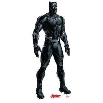 Black Panther Animated Avengers Cardboard Standup