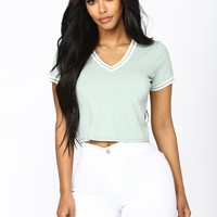 Only A Dream Crop Top - Sage