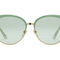 Gucci Specialized fit round-frame metal sunglasses