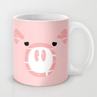 Cute Pink Pig face Mug by mailboxdisco