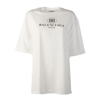 White Mode T-Shirt by Balenciaga