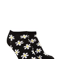 Daisy-Patterned Ankle Socks