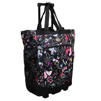 Olympia 20-inch Butterfly Rolling Shopper Tote   Overstock.com Shopping - The Best Deals on Travel Tote Bags