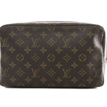 ICIKU3N Authentic Louis Vuitton Trousse toilette 28 monogram cosmetic bag M47522