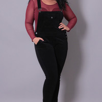 Plus Size Corduroy Overall