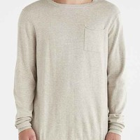 Globe Graham Pocket Crew Neck Sweater- Tan