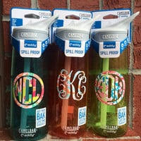 Lilly Pulitzer Inspired Monogramed Camelbak Water Bottle