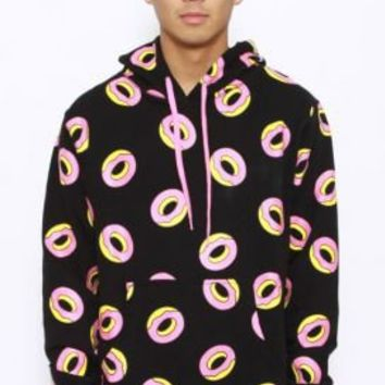 Odd Future, All Over Donut Pullover Hoodie - Black  :: Odd Future :: MOOSE Limited