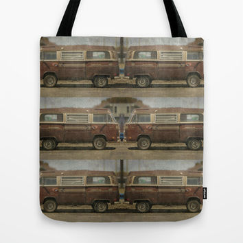 Volkswagen Type 2 (T2) Seventies VW Kombi Van Tote Bag by Bruce Stanfield