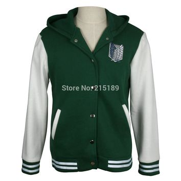 shingeki no kyojin attack on titan jacket Scratched Velvet fashion casual hoodies Sweatshirt cosplay anime costume for lovers