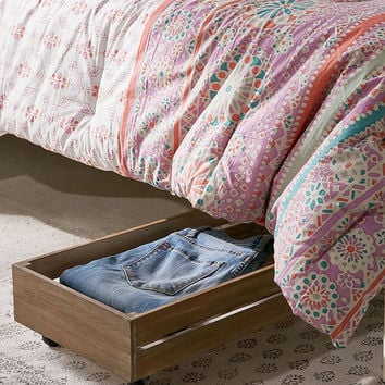 Under-The-Bed Rolling Wood Storage Box - Urban Outfitters