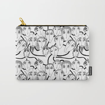 On my train Carry-All Pouch by Krusidull Illustrations