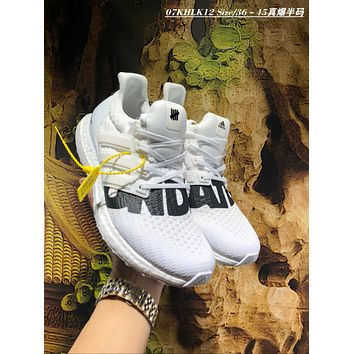 KUYOU A457 UNDEFEATED x adidas Ultra Boost 4.0 Big Letter Running Shoes White