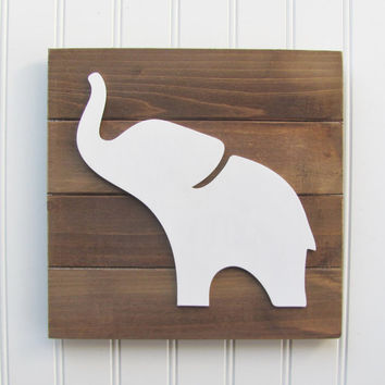 Elephant, Baby Decor, Safari Letters, Nursery Decor, Safari Decor, Animal Decor, Nursery Wall Art, Pallet Board, Pallet Sign, Safari Animal