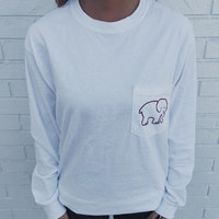 Pocketed White Classic Print