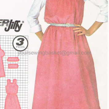 Vintage Misses Jumper Pattern, Uncut Simplicity 5614, Sizes 14 and 16, Retro Dress Pattern, Sundress Pattern
