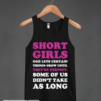 Short Girls, They're Perfect-Unisex Black Tank