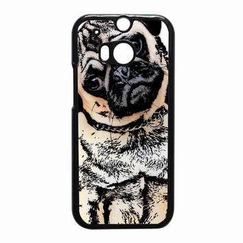 pugs alot dog 7051150f-159d-4452-855f-f2fa7b48e9fb for HTC One M8 case *RA*