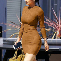 Brown Faux Couture Dress