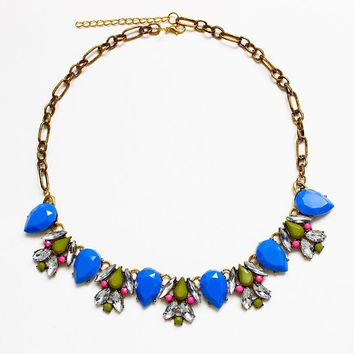 1PC Summer Candy Color Water Drops Bubble Chain Bib Necklace Choker BU