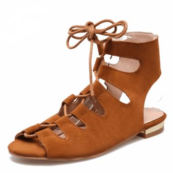 Native Flat Lace-Up Sandal
