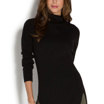 SPLIT TURTLENECK TUNIC