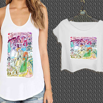 Disney heart of a princess For Woman Tank Top , Man Tank Top / Crop Shirt, Sexy Shirt,Cropped Shirt,Crop Tshirt Women,Crop Shirt Women S, M, L, XL, 2XL**