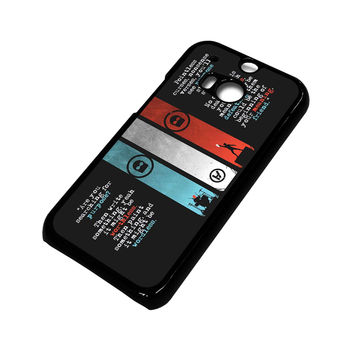 TWENTY ONE PILOTS KITCHEN SINK HTC One M8 Case