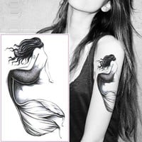 Waterproof Temporary Tattoo Sticker dreamcatcher fox mermaid henna tatto stickers flash tatoo fake tattoos for women girl 7
