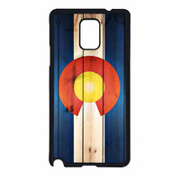 Colorado State Flag Wood Design Samsung Galaxy Note 4 Case