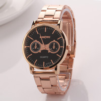 Stainless Steel Gold Watch with Gift Box