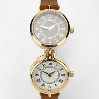 Double Case Leather Watch