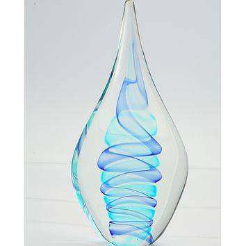 Abstract, Water Drop Glass Sculpture