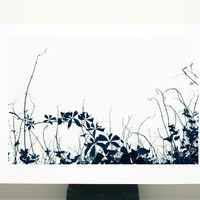 Large Canvas Print Black and White Zen Botanicals 20x30 gift for him minimalist wall art living room decor