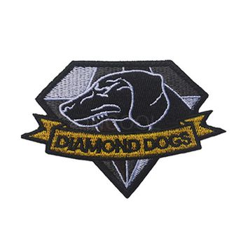 Embroidered Patch Diamond Dogs Metal Gear Solid MGS Morale Patch Tactical Applique Emblem Badges Embroidery Patches 10*7CM