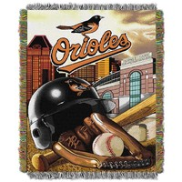 Baltimore Orioles Tapestry Throw by Northwest (Orl Team)