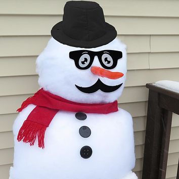 Evelots Classy Snowman Kit-Cool-Well Dressed-Sturdy-Our Exclusive-Cool Mustache