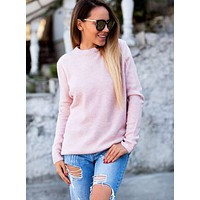 Women'S Sexy V-Neck Long-Sleeved Sweater