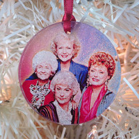 Golden Girls glass and glitter ornament