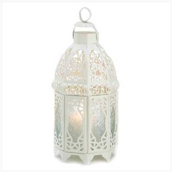White Lattice Lantern | Overstock.com Shopping - The Best Deals on Candles & Holders