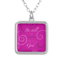 Psalm 46:10 Choose your own color! Customizable Necklaces