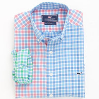 Rowayton Party Check Tucker Shirt