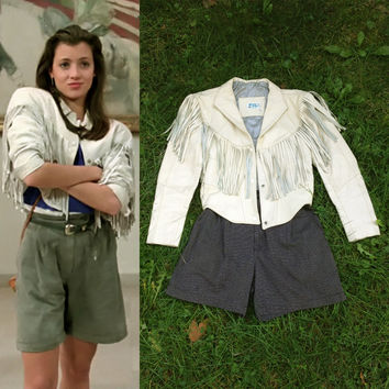 Calque — **HALLOWEEN SLOANE PETERSON**  Fringe Leather Jacket