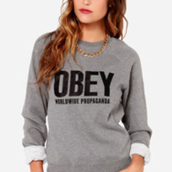 Obey Ellis Crew Grey Sweater