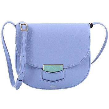 Celine Trotteur Lock Crossbody Bag Grainy Leather Small
