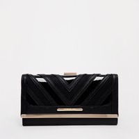 River Island Black Chevron Deco Purse