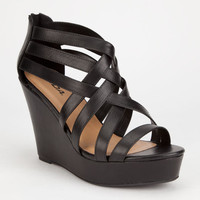 Soda Jorgina Womens Wedges Black  In Sizes