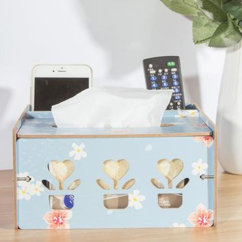 Multifunctional Book box Remote control Storage box Detachable Wooden High Quality Cargo Box Family Table Decoration Products