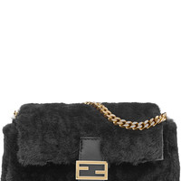 Fendi - Micro Baguette Shearling Shoulder Bag